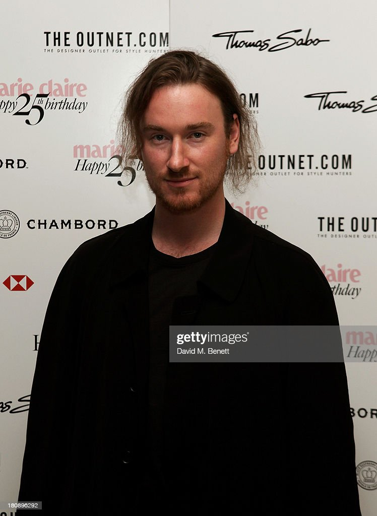 Mark Fast arrives at the Marie Claire 25th birthday celebration featuring Icons of Our Time in association with The Outnet at the Cafe Royal Hotel on September 17, 2013 in London, England.
