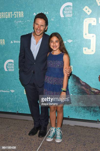Mark Feuerstein and duaghter attend the opening night of 'Bright Star' at Ahmanson Theatre on October 20 2017 in Los Angeles California