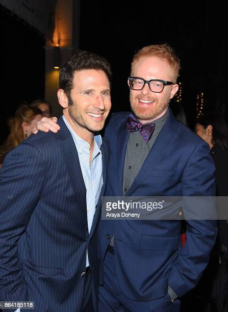 Mark Feuerstein and Jesse Tyler Ferguson attend the opening night of 'Bright Star' at Ahmanson Theatre on October 20 2017 in Los Angeles California