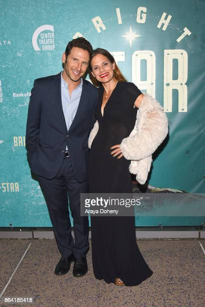 Mark Feuerstein and Suzanne Cryer attend the opening night of 'Bright Star' at Ahmanson Theatre on October 20 2017 in Los Angeles California
