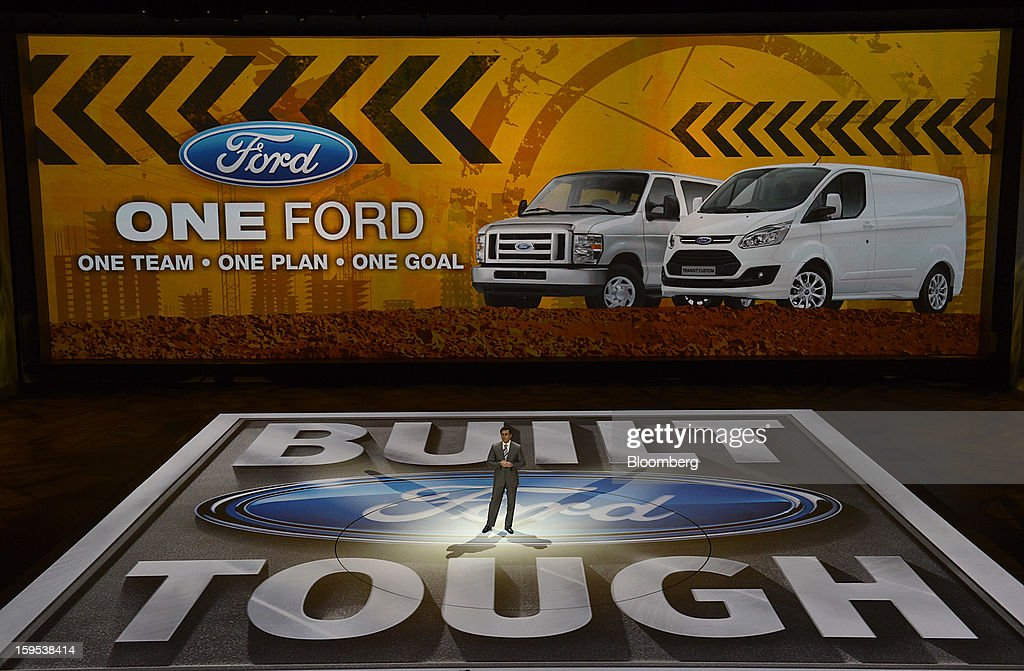 Mark Fields, chief operating officer of Ford Motor Co., speaks during the 2013 North American International Auto Show (NAIAS) in Detroit, Michigan, U.S., on Tuesday, Jan. 15, 2013. The Detroit auto show runs through Jan. 27 and will display over 500 vehicles, representing the most innovative designs in the world. Photographer: David Paul Morris/Bloomberg via Getty Images
