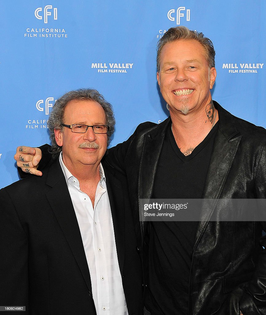 Mark Fishkin and James Hetfield attend the 'Metallica Through The Never' U.S. Public Premiere and Special Advance 36th Annual Mill Valley Film Festival Kick-Off Event at Christopher B. Smith Rafael Film Center on September 17, 2013 in San Rafael, California.