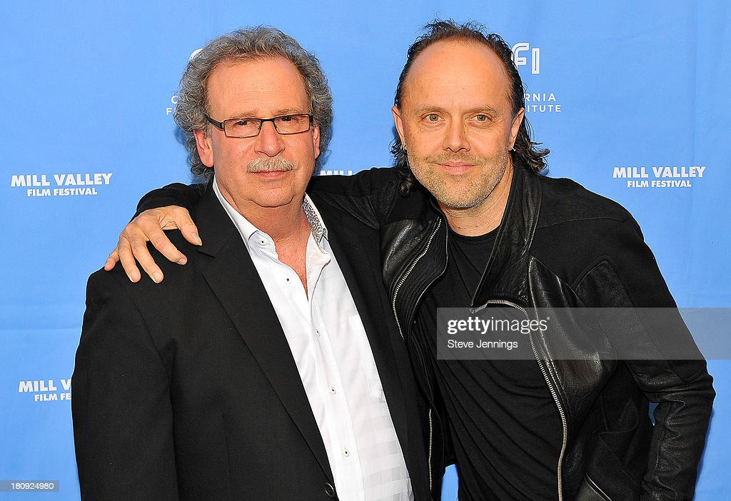 Mark Fishkin and <a gi-track='captionPersonalityLinkClicked' href=/galleries/search?phrase=Lars+Ulrich&family=editorial&specificpeople=209281 ng-click='$event.stopPropagation()'>Lars Ulrich</a> attend the 'Metallica Through The Never' U.S. Public Premiere and Special Advance 36th Annual Mill Valley Film Festival Kick-Off Event at Christopher B. Smith Rafael Film Center on September 17, 2013 in San Rafael, California.