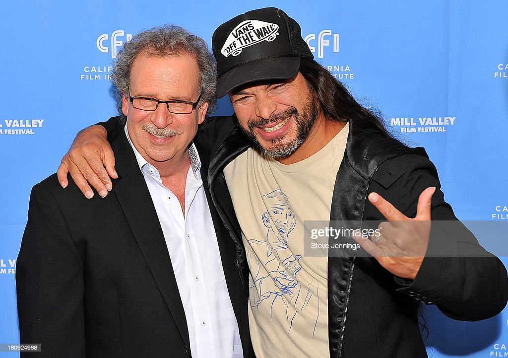 Mark Fishkin and Robert Trujillo attend the 'Metallica Through The Never' U.S. Public Premiere and Special Advance 36th Annual Mill Valley Film Festival Kick-Off Event at Christopher B. Smith Rafael Film Center on September 17, 2013 in San Rafael, California.