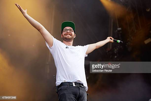 Mark Forster performs at StadtwerkeFest on July 4 2015 in Potsdam Germany