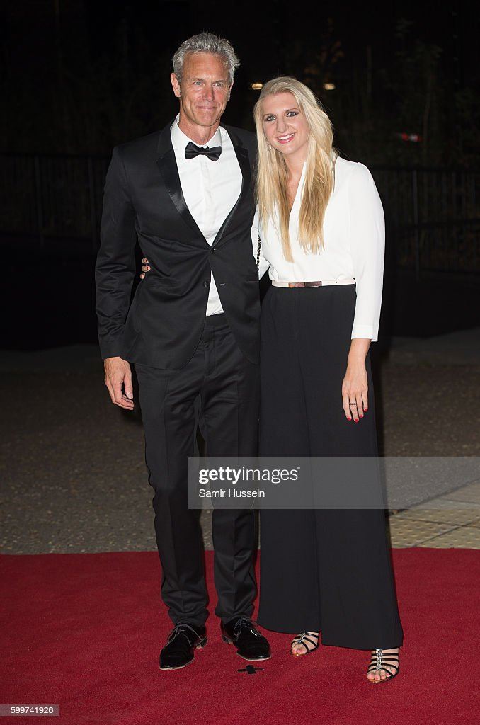 Mark Foster and Rebecca Adlington arrives for GQ Men Of The Year Awards 2016 at Tate Modern on September 6, 2016 in London, England.