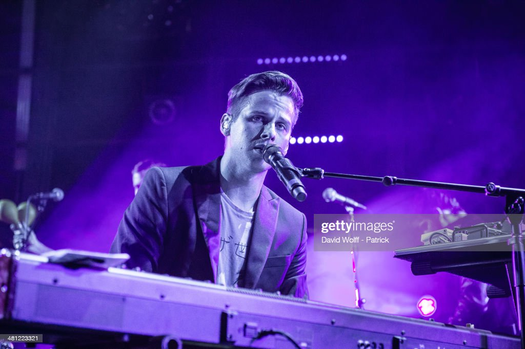 Mark Foster from Foster the People performs at La Gaite Lyrique on March 28 2014 in Paris France