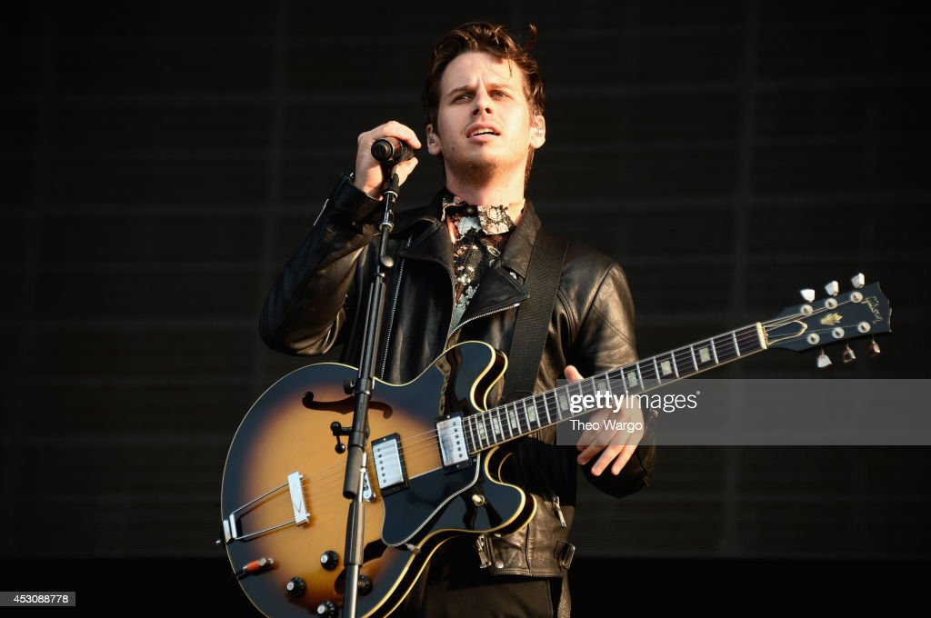 Mark Foster of Foster The People performs at the Samsung Galaxy stage during 2014 Lollapalooza Day Two at Grant Park on August 2 2014 in Chicago...