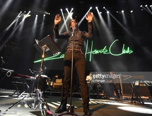 Mark Foster of Foster the People performs during Live 105's 2017 Not So Silent Night at ORACLE Arena on December 9 2017 in Oakland California