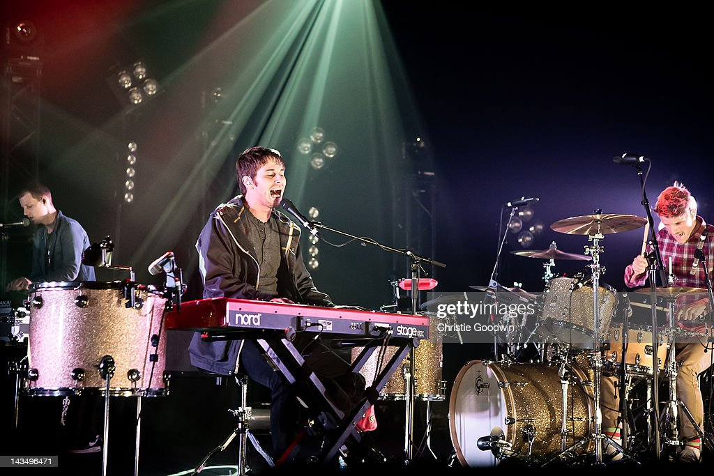 Mark Foster of Foster The People performs on stage at Brixton Academy on April 27 2012 in London United Kingdom