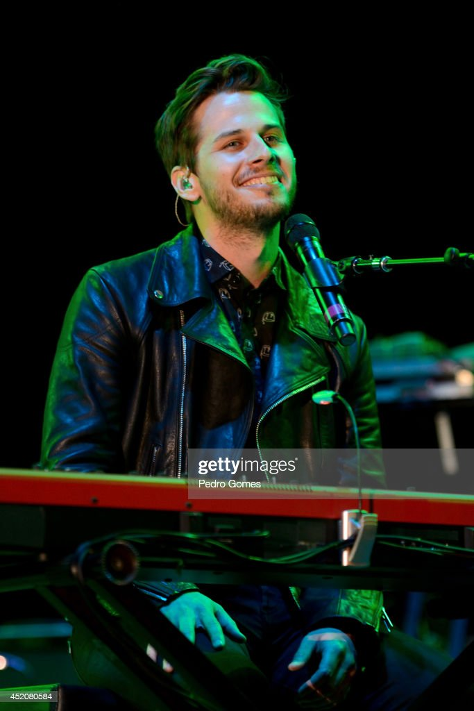 Mark Foster of Foster the People performs on stage at Optimus Alive music festival on July 12 2014 in Lisbon Portugal