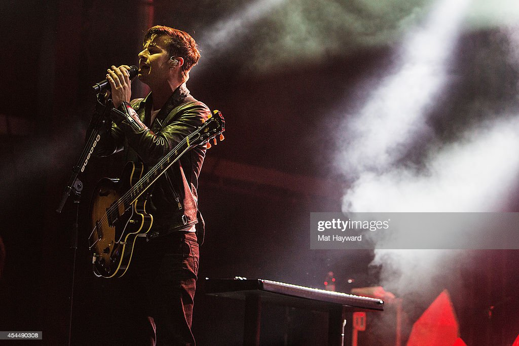 Mark Foster of Foster the People performs on the main stage during the Bumbershoot Music and Art Festival at Seattle Center on September 1, 2014 in Seattle, Washington.