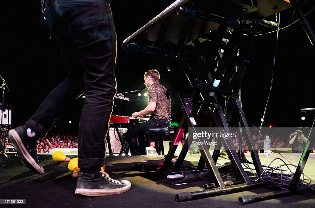 Mark Foster of Foster The People performs onstage at the Firefly Music Festival at The Woodlands of Dover International Speedway on June 23 2013 in...