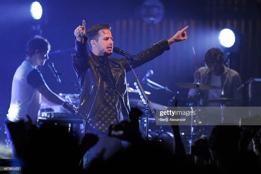 Mark Foster of Foster The People performs onstage during the Foster The People concert at Fillmore Miami Beach on October 16 2014 in Miami Beach...