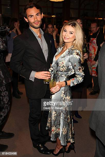Mark Francis Vandelli and Georgia Toffolo attend the launch of Disaronno Wears Etro celebrating the limited edition bottle at the Etro Bond Street...
