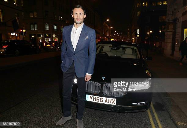Mark Francis Vandelli arrives in style in the luxury BMW 7 Series at the Debrett's 500 Gala at BAFTA on January 23 2017 in London England