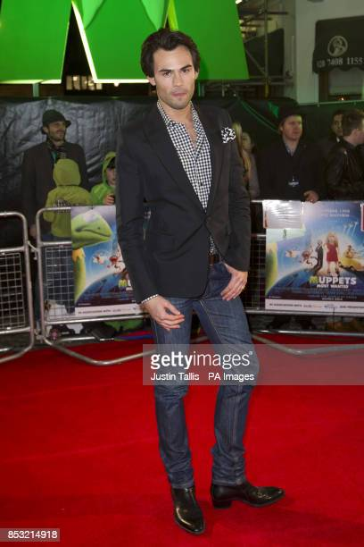 Mark Francis Vandelli arriving at the celebrity screening of Muppets Most Wanted at the Curzon Mayfair in central London