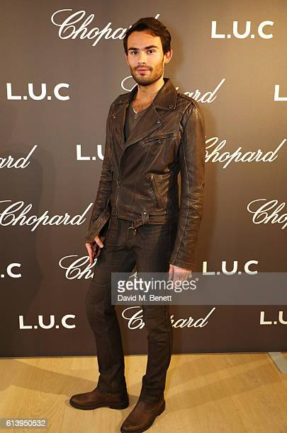 Mark Francis Vandelli attends the cocktail opening of the Chopard exhibition 'LUC L'art d'une Manufacture' at Phillips Gallery on October 11 2016 in...
