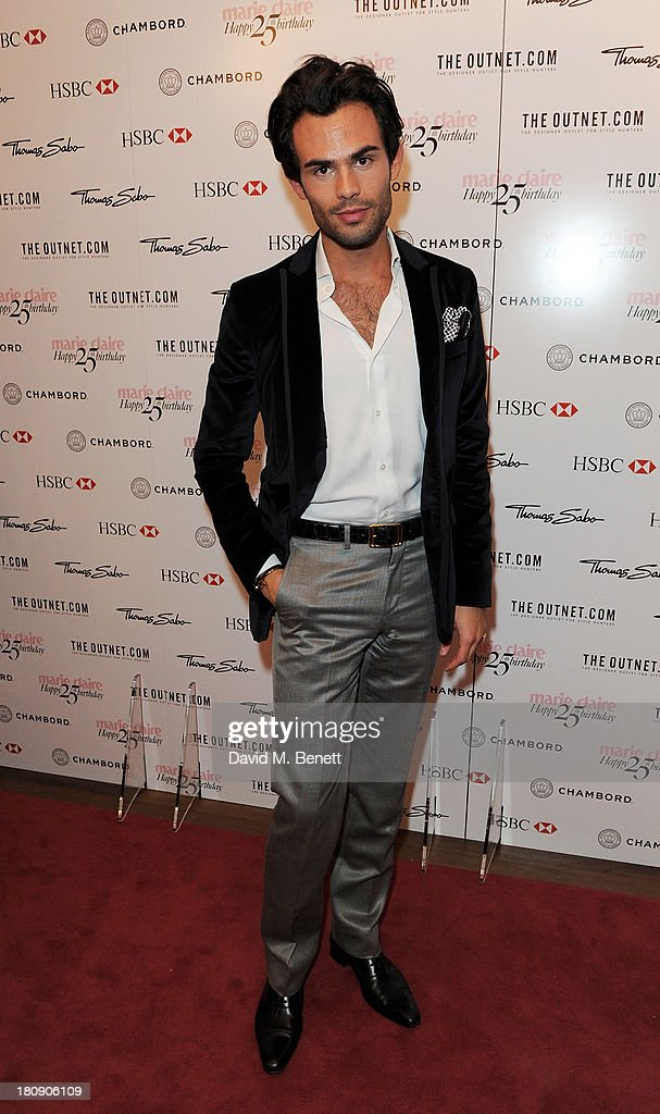 Mark Francis Vandelli attends the Marie Claire 25th birthday celebration featuring Icons of Our Time in association with The Outnet at the Cafe Royal Hotel on September 17, 2013 in London, England.