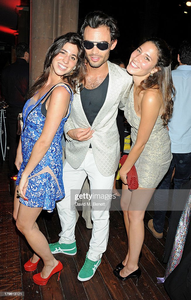 Mark Francis Vandelli (C) with Antonia Packard and Tessa Packard attend the Queen AIDS Benefit in support of The Mercury Phoenix Trust at One Mayfair on September 5, 2013 in London, England.