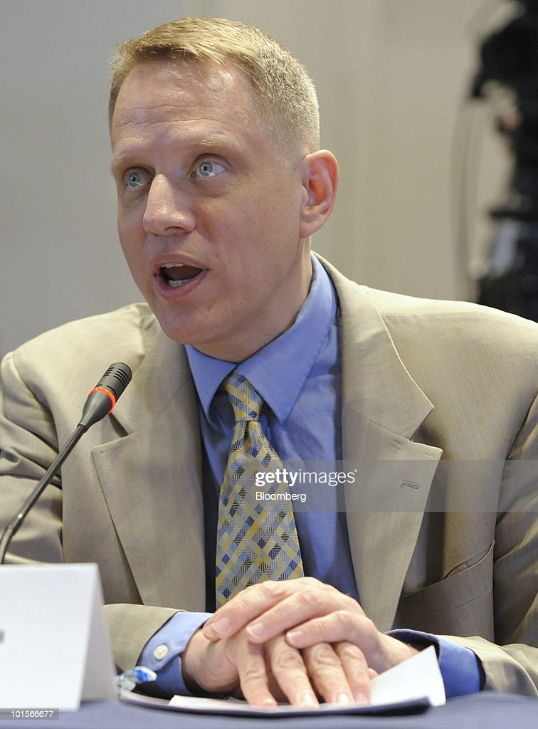 Mark Froeba, former senior vice president of U.S. derivatives for Moody's Investors Service, testifies at a hearing of the Financial Crisis Inquiry Commission in New York, U.S., on Wednesday, June 2, 2010. Moody's Corp. Chief Executive Officer Raymond McDaniel said his company's ratings of collateralized debt obligations and residential mortgage securities in the past several years have been 'deeply disappointing.' Photographer: Peter Foley/Bloomberg via Getty Images