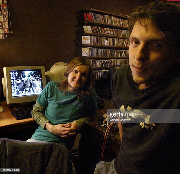 Mark Frosty McNeill left and Jon Buck co–founders of Dublab an internet radio station born out of the dotcom hype works out of a little location...