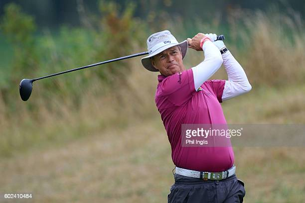 Mark Gary Wolstenholme of England in action during the final round of the Paris Legends Championship played on L'Albatros Course at Le Golf National...