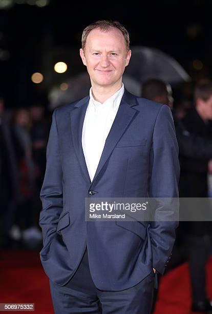Mark Gatiss attends 'Dad's Army' World Premiere on January 26 2016 in London United Kingdom