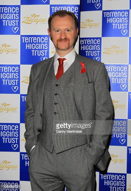 Mark Gatiss attends the Terrence Higgins Trust's The Supper Club at Cafe de Paris on November 2 2010 in London England