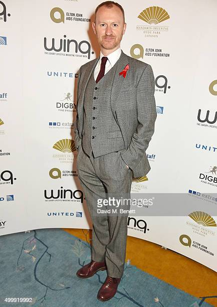 Mark Gatiss attends the Winq Magazine Men of the Year lunch to benefit the Elton John Aids Foundation at The Mandarin Oriental Hyde Park on December...