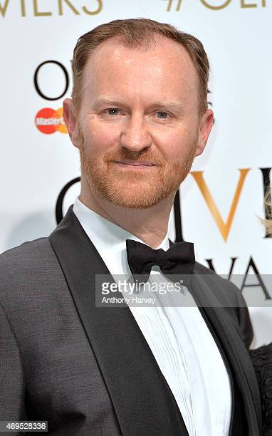 Mark Gatiss in the winners room at The Olivier Awards at The Royal Opera House on April 12 2015 in London England