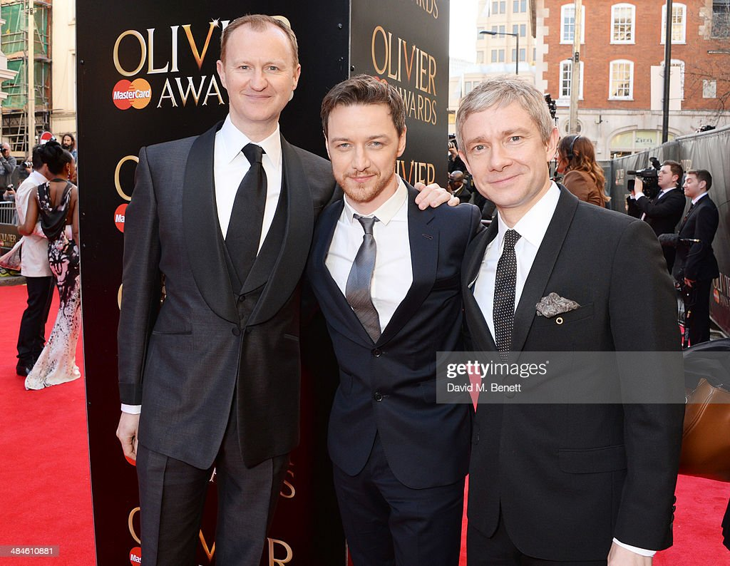<a gi-track='captionPersonalityLinkClicked' href=/galleries/search?phrase=Mark+Gatiss&family=editorial&specificpeople=234407 ng-click='$event.stopPropagation()'>Mark Gatiss</a>, <a gi-track='captionPersonalityLinkClicked' href=/galleries/search?phrase=James+McAvoy&family=editorial&specificpeople=647005 ng-click='$event.stopPropagation()'>James McAvoy</a> and <a gi-track='captionPersonalityLinkClicked' href=/galleries/search?phrase=Martin+Freeman&family=editorial&specificpeople=214753 ng-click='$event.stopPropagation()'>Martin Freeman</a> attend the Laurence Olivier Awards at The Royal Opera House on April 13, 2014 in London, England.