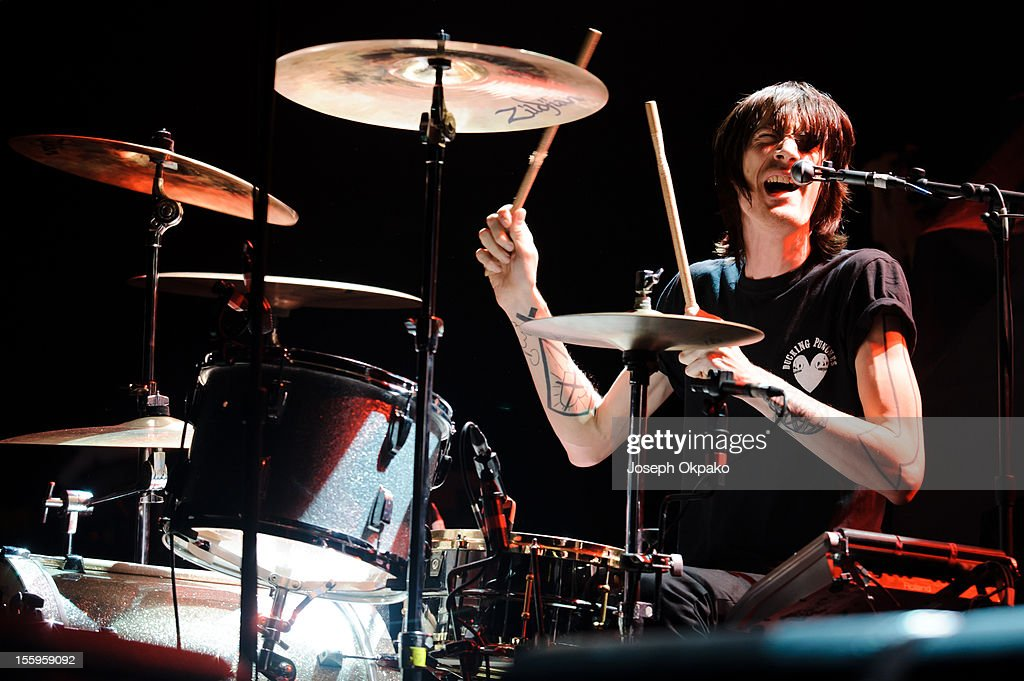 Mark Gibson of the band Lost Alone performs on stage at Wembley Arena on November 9, 2012 in London, United Kingdom.