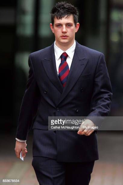 Mark Goddard leaves Isleworth Crown Court where he escaped custody today for his part in a brawl which partially blinded a Saudi billionaire's nephew