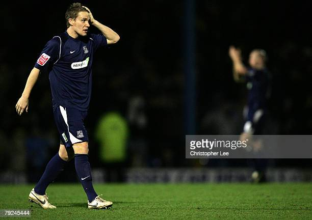Mark Gower of Southend looks dejected at the end of the match during the FA Cup Sponsored by eon Fourth Round match between Southend United and...