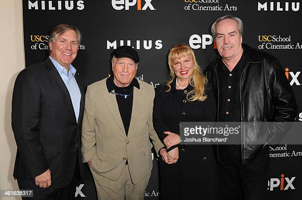 Mark Greenberg Richard Dreyfuss Svetlana Erokhin and Powers Boothe arrive at EPIX USC Host An Evening With John Milius at USC Norris Theatre on...