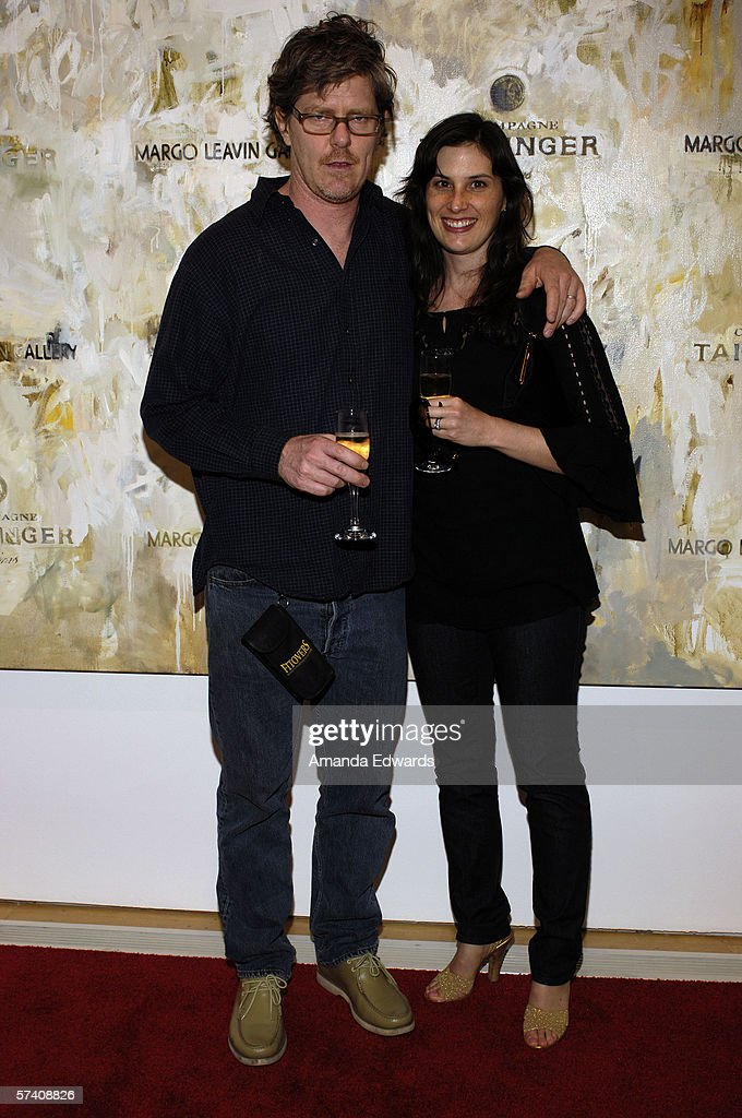 Mark Grotjahn and Jennifer Guidi attend the opening of artist Delia Brown's 'Double Self-Portraits And Step & Repeat' exhibition at the Margo Leavin Gallery on April 20, 2006 in West Hollywood, California.