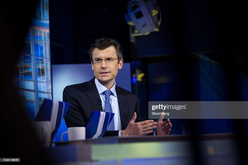 Mark Haefele, global chief investment officer of wealth management at UBS Switzerland AG, speaks during a Bloomberg Television interview in New York, U.S., on Tuesday, June 28, 2016. Haefele discussed getting back into the market after the post-Brexit selloff, the lingering effects of uncertainty, and concerns that he's heard from clients. Photographer: Michael Nagle/Bloomberg via Getty Images