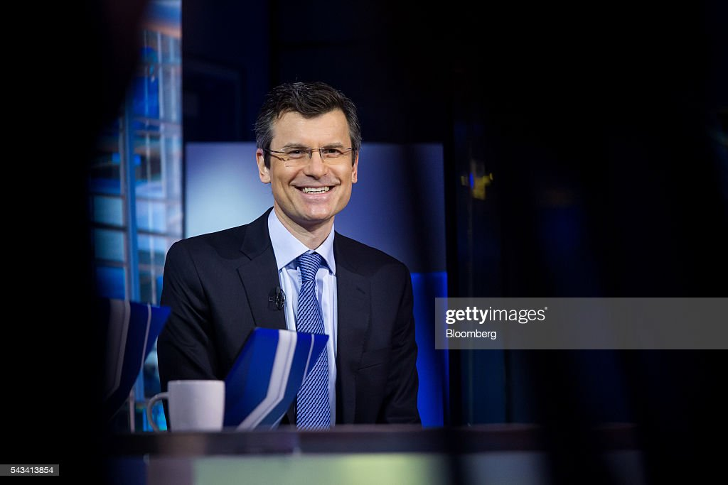 Mark Haefele, global chief investment officer of wealth management at UBS Switzerland AG, smiles during a Bloomberg Television interview in New York, U.S., on Tuesday, June 28, 2016. Haefele discussed getting back into the market after the post-Brexit selloff, the lingering effects of uncertainty, and concerns that he's heard from clients. Photographer: Michael Nagle/Bloomberg via Getty Images