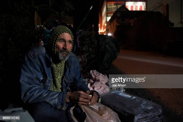 Mark Hagelin has been in this secluded alley way for about a month with his dog Belle though he's been homeless for much longer The Salvation Army...
