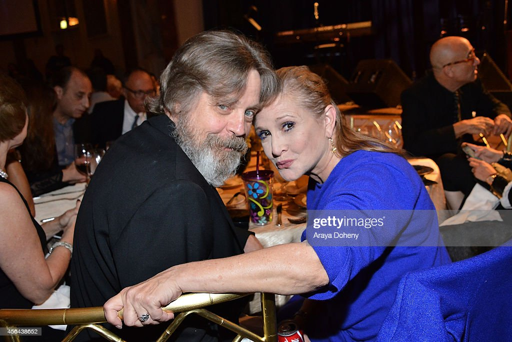 Mark Hamill and Carrie Fisher attend the Midnight Mission's 100 year anniversary Golden Heart Gala held at the Beverly Wilshire Four Seasons Hotel on September 30, 2014 in Beverly Hills, California.