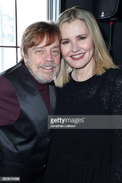 Mark Hamill and Geena Davis attend the Creators League Studio At 2017 Sundance Film Festival Day 6 on January 24 2017 in Park City Utah