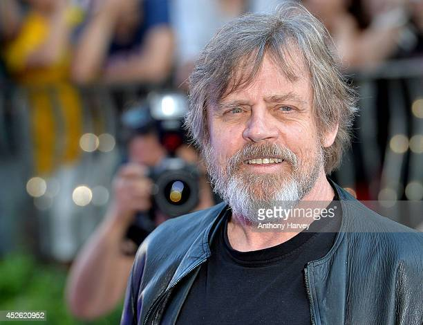 Mark Hamill attends the UK Premiere of 'Guardians of the Galaxy' at Empire Leicester Square on July 24 2014 in London England