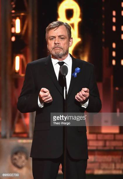 Mark Hamill speaks onstage during the 2017 Tony Awards at Radio City Music Hall on June 11 2017 in New York City