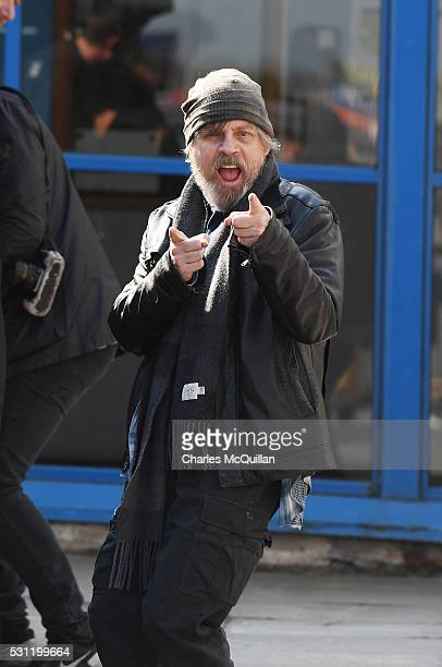 Mark Hamill who plays Luke Skywalker in the Star Wars series arrives at Belfast International Airport this morning on May 13 2016 in Belfast Northern...