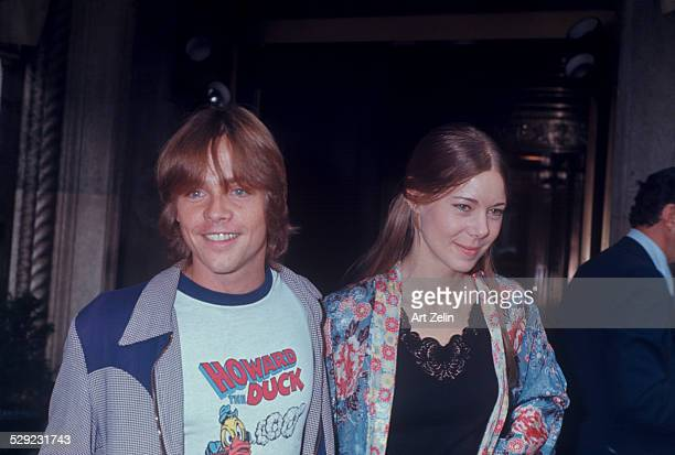 Mark Hamill with his girlfriend at a theater circa 1970 New York