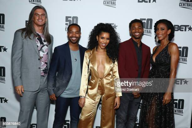 Mark Harley Tristen Winger Jasmin Brown Vince Swann and Kiya Roberts attend BET's 50 Central Premiere Party on September 25 2017 in New York City