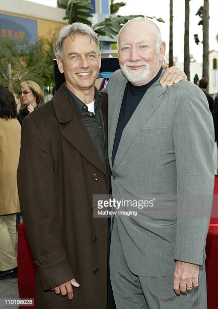Mark Harmon and Donald P Bellisario during Donald P Bellisario Honored with Star on the Hollywood Walk of Fame at 7080 Hollywood Blvd in Hollywood...