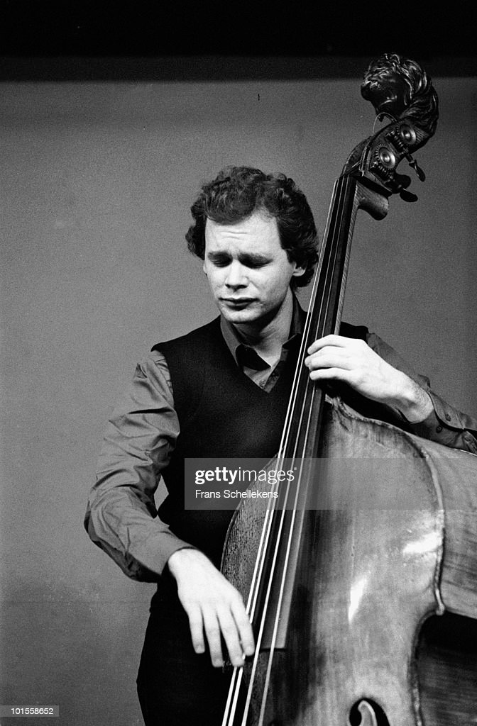 Mark Helias performs live on stage at Bimhuis in Amsterdam, Netherlands on January 29 1983
