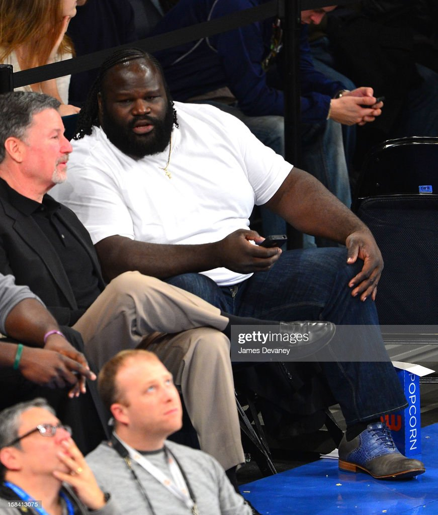 Mark Henry attends the Cleveland Cavaliers vs New York Knicks game at Madison Square Garden on December 15, 2012 in New York City.